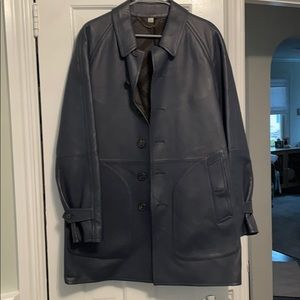 Burberry Men's leather trench coat.
